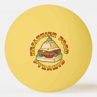 Healthier Food Pyramid Ping Pong Ball