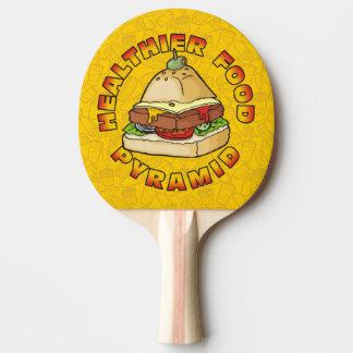 Healthier Food Pyramid Ping Pong Paddle