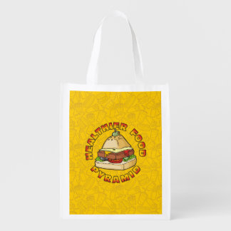 Healthier Food Pyramid Reusable Grocery Bag