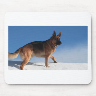 Healthy And Happy German Shepherd Dog Mouse Pad