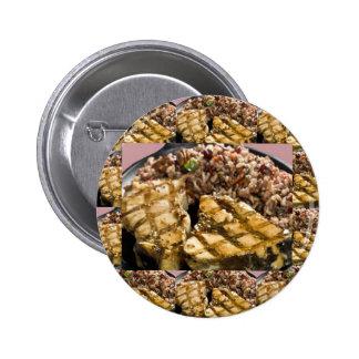 Healthy Diet Chicken n Rice Chefs Fine Cuisine 6 Cm Round Badge