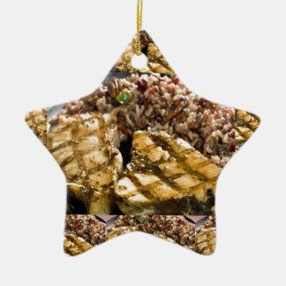 Healthy Diet Chicken n Rice Chefs Fine Cuisine Ceramic Star Decoration