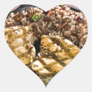 Healthy Diet Chicken n Rice Chefs Fine Cuisine Heart Sticker