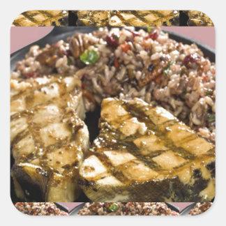 Healthy Diet Chicken n Rice Chefs Fine Cuisine Square Sticker