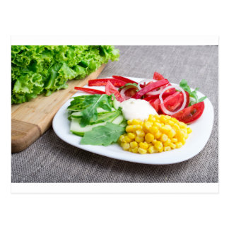Healthy dish made from natural  ingridients postcard