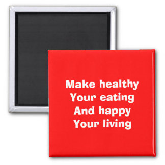 Healthy eating fridge magnets