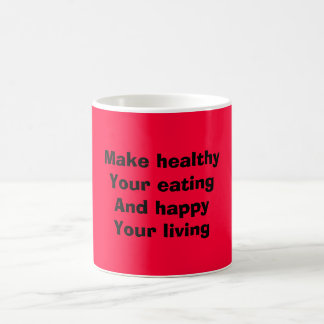 Healthy eating coffee mug