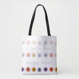 Healthy Happy Heart All-Over Tote Bag