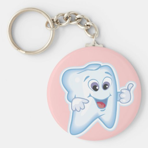 Healthy Happy Tooth Key Chain