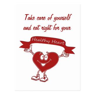 Healthy Heart man  cardiology  awareness symbol Postcard