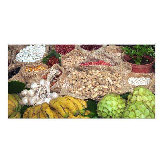Healthy ingredients customised photo card