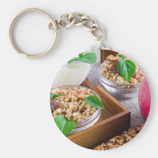Healthy ingredients for breakfast key ring