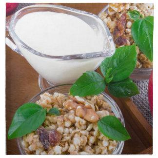 Healthy ingredients for breakfast napkin