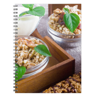Healthy ingredients for breakfast spiral notebook