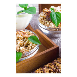 Healthy ingredients for breakfast stationery