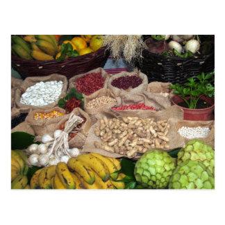 Healthy ingredients postcard
