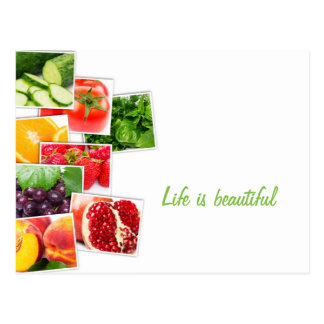 Healthy life postcard