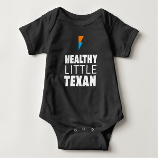 Healthy Little Texan - Black Baby Bodysuit