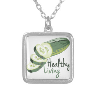Healthy LIving Square Pendant Necklace
