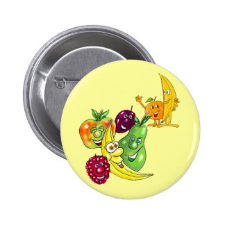 Healthy Nutritional Fruit 6 Cm Round Badge