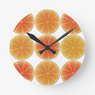 Healthy Orange slice Round Clock
