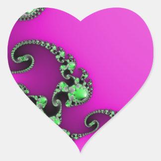 Healthy Purple Heart Sticker