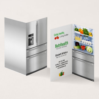 healthy refrigerator nutritionist business card