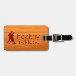 Healthy Trekking Faux Amber Wood Luggage Tag