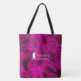Healthy Trekking Hawaiian Pink Palms Beach Bag