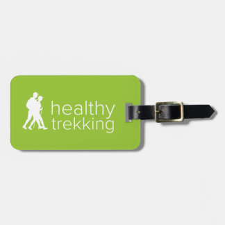 Healthy Trekking Lime Green Luggage Tag