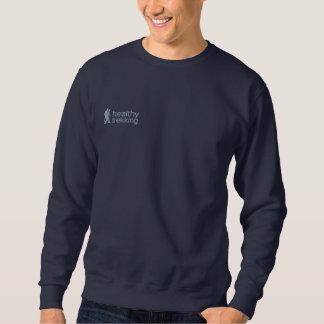 Healthy Trekking Lt Blue Embroidered Logo Embroidered Sweatshirt