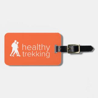 Healthy Trekking Tangerine Luggage Tag