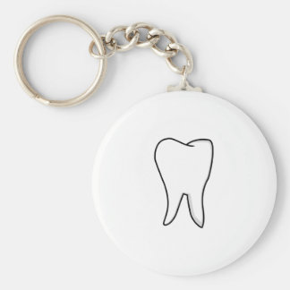 Healthy White Tooth Key Ring