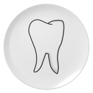 Healthy White Tooth Plate