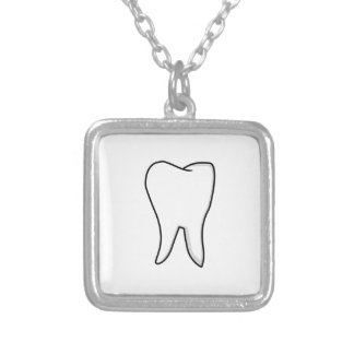 Healthy White Tooth Silver Plated Necklace