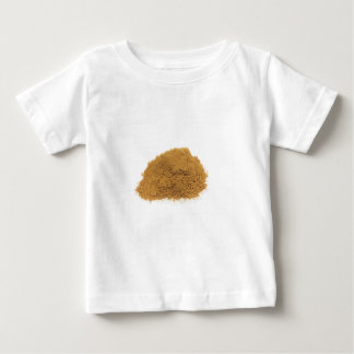 Heap of cinnamon powder on white background baby T-Shirt