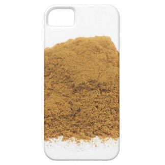 Heap of cinnamon powder on white background case for the iPhone 5