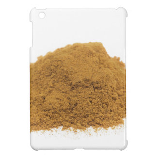 Heap of cinnamon powder on white background iPad mini cases