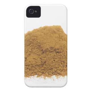 Heap of cinnamon powder on white background iPhone 4 Case-Mate cases