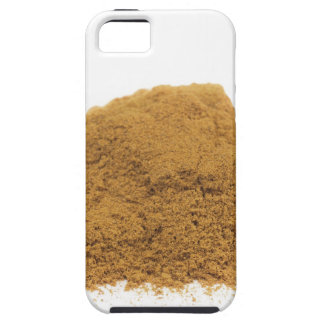 Heap of cinnamon powder on white background iPhone 5 cover