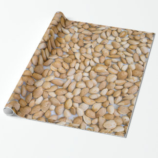 Heap of the almond wrapping paper