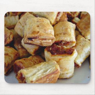 Heaps of sausage rolls mouse pad