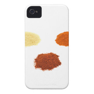 Heaps of several seasoning spices on white Case-Mate iPhone 4 cases
