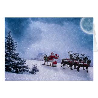 Hear Comes Santa Claus Vintage Greeting Card