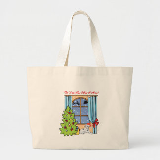 hear dalmatian large tote bag