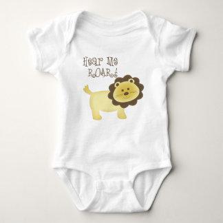 Hear Me Roar Baby Lion Baby Bodysuit