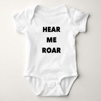 """""""Hear Me Roar"""" For Baby Baby Bodysuit"""