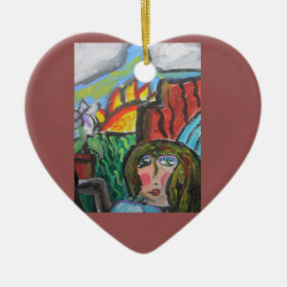 Hear music of god 2 ceramic heart decoration