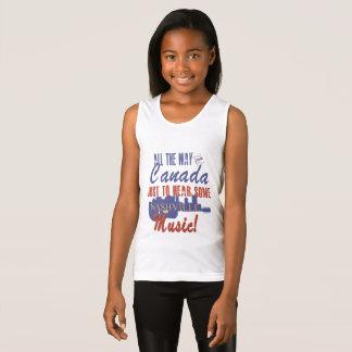 Hear Nashville Music from Canada Girl's Shirt