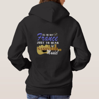 Hear Nashville Music from France Women's Hoodie